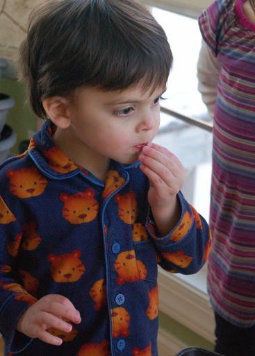 Theo Tasting Radish Chips